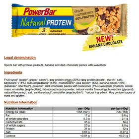 PowerBar Natural Protein - Nutrición deportiva - Banana Chocolate (Vegan) 24 x 40g